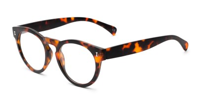 Angle of The Timber in Glossy Tortoise, Women's and Men's Round Reading Glasses