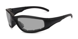 Angle of The Tinted Bifocal EVA Safety Goggles in Black with Smoke, Women's and Men's Sport & Wrap-Around Reading Glasses