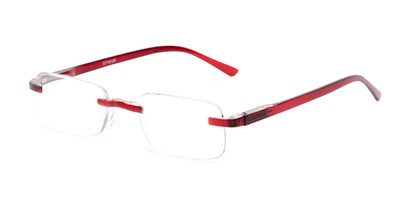 Angle of The Tipton in Maroon, Women's and Men's Rectangle Reading Glasses