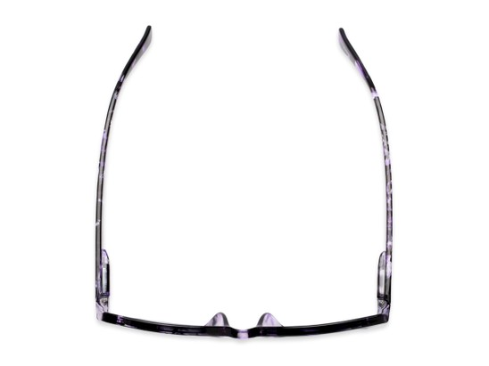 Overhead of The Topaz Reading Sunglasses in Purple/Black with Smoke