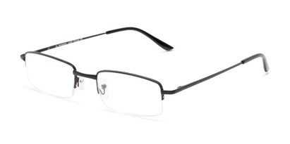 Angle of The Topeka in Black, Women's and Men's Rectangle Reading Glasses