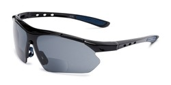 Angle of The Topsail Bifocal Reading Sunglasses in Black/Blue with Smoke, Women's and Men's Sport & Wrap-Around Reading Sunglasses
