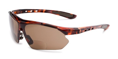 Angle of The Topsail Bifocal Reading Sunglasses in Tortoise with Amber, Women's and Men's Sport & Wrap-Around Reading Sunglasses