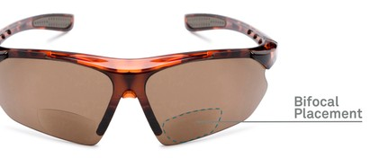 Detail of The Topsail Bifocal Reading Sunglasses in Tortoise with Amber
