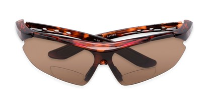 Folded of The Topsail Bifocal Reading Sunglasses in Tortoise with Amber