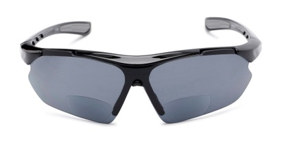 Front of The Topsail Bifocal Reading Sunglasses in Black/Grey with Smoke
