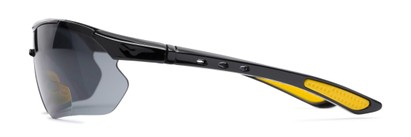 Side of The Topsail Bifocal Reading Sunglasses in Black/Yellow with Smoke