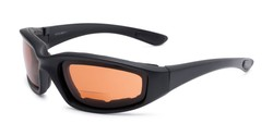 Angle of The Trailblazer Bifocal Driving Reader in Black with Amber, Women's and Men's Sport & Wrap-Around Reading Sunglasses