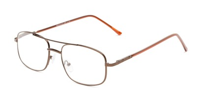 Angle of The Trent in Bronze/Brown, Men's Aviator Reading Glasses