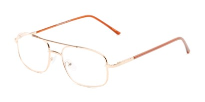 Angle of The Trent in Gold/Brown, Men's Aviator Reading Glasses