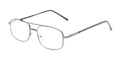 Angle of The Trent in Grey/Black, Men's Aviator Reading Glasses