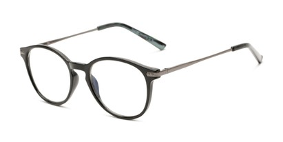 Angle of The Tristan - Foster Grant for Readers.com in Black/Grey, Women's and Men's Round Reading Glasses