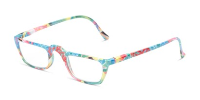 Angle of The Tropical in Red/Blue Multi with Fish, Women's Rectangle Reading Glasses
