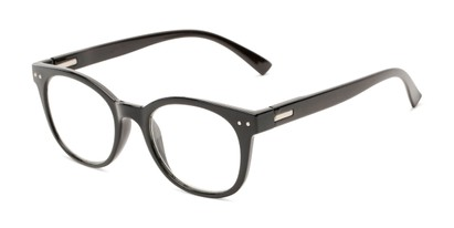 Angle of The True in Black, Women's Retro Square Reading Glasses