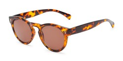Angle of The Tupelo Reading Sunglasses in Glossy Tortoise with Amber, Women's Round Reading Sunglasses