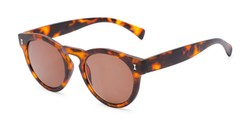 Angle of The Tupelo Reading Sunglasses in Matte Tortoise with Amber, Women's Round Reading Sunglasses