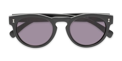 Folded of The Tupelo Reading Sunglasses in Matte Black with Smoke