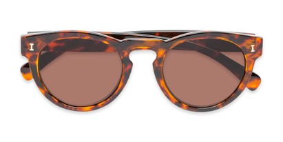 Folded of The Tupelo Reading Sunglasses in Glossy Tortoise with Amber