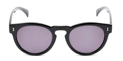 Front of The Tupelo Reading Sunglasses in Glossy Black with Smoke