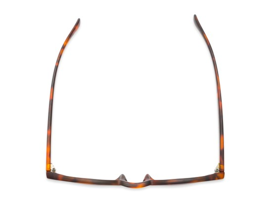 Overhead of The Tupelo Reading Sunglasses in Matte Tortoise with Amber