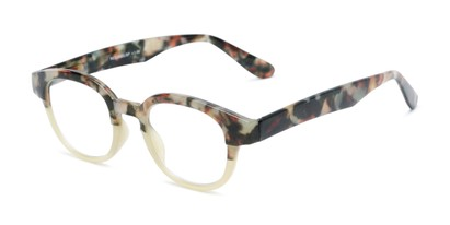 Angle of The Tweed in Olive Green Tortoise Fade, Women's and Men's Round Reading Glasses