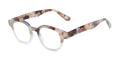 Angle of The Tweed in Grey Tortoise Fade, Women's and Men's Round Reading Glasses