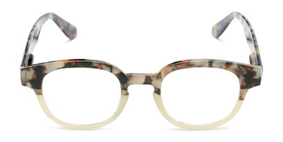Front of The Tweed in Olive Green Tortoise Fade