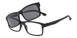 c1ddc62f25 Angle of The Twist Polarized Magnetic Reading Sunglasses in Matte Black