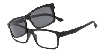 1dd54f0a15f Angle of The Twist Polarized Magnetic Reading Sunglasses in Matte Black
