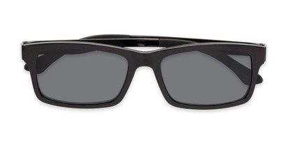 Folded of The Twist Polarized Magnetic Reading Sunglasses in Glossy Black