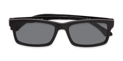 Folded of The Twist Polarized Magnetic Reading Sunglasses in Matte Black