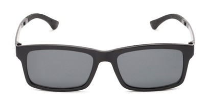 Front of The Twist Polarized Magnetic Reading Sunglasses in Glossy Black