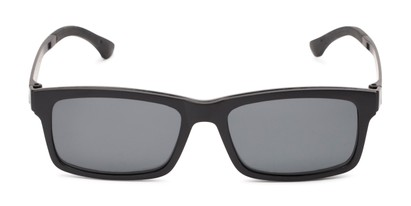 Front of The Twist Polarized Magnetic Reading Sunglasses in Matte Black