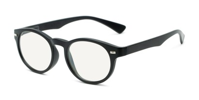 Angle of The University Computer Reader in Matte Black, Women's and Men's Round Computer Glasses