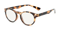 Angle of The University Computer Reader in Brown Tortoise, Women's and Men's Round Computer Glasses
