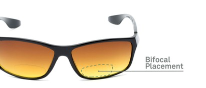 Detail of The Utah Driving Bifocal Reading Sunglasses in Black with Amber