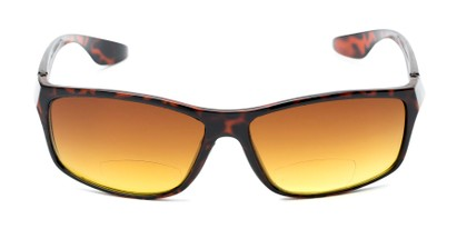 Front of The Utah Driving Bifocal Reading Sunglasses in Tortoise with Amber
