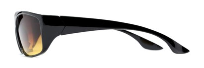 Side of The Utah Driving Bifocal Reading Sunglasses in Black with Amber