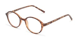 Angle of The North Customizable Reader in Matte Tortoise, Women's and Men's Round Reading Glasses