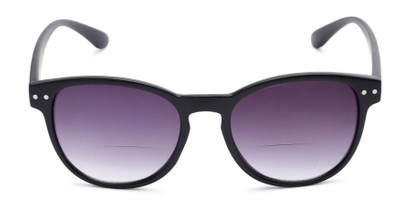 Front of The Vale Bifocal Reading Sunglasses in Matte Black with Smoke