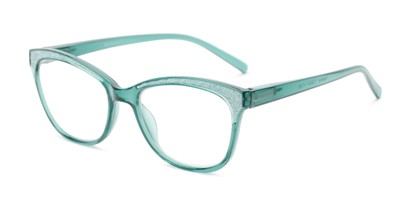 Angle of The Valerie in Seafoam Green, Women's Cat Eye Reading Glasses