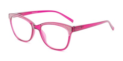 Angle of The Valerie in Magenta Pink, Women's and Men's