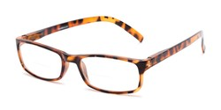 Angle of The Vancouver Bifocal in Tortoise, Women's and Men's Rectangle Reading Glasses