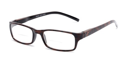 Angle of The Vancouver Bifocal in Tortoise/Black, Women's and Men's Rectangle Reading Glasses