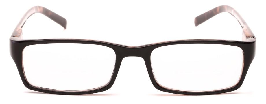 unisex simple rectangle bifocal reading glasses