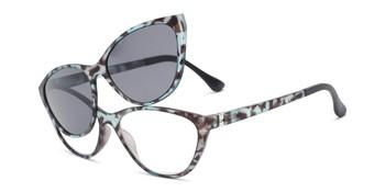 64d36e93b16 Angle of The Vega Polarized Magnetic Reading Sunglasses in Blue Tortoise  with Smoke