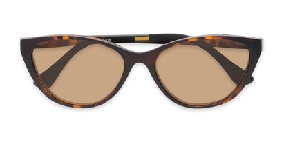 Folded of The Vega Polarized Magnetic Reading Sunglasses in Brown Tortoise with Amber