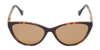 Front of The Vega Polarized Magnetic Reading Sunglasses in Brown Tortoise with Amber