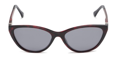 Front of The Vega Polarized Magnetic Reading Sunglasses in Red Tortoise with Smoke