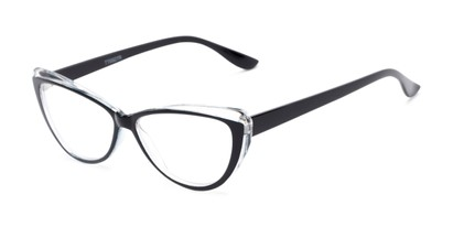 Angle of The Venus in Black, Women's Cat Eye Reading Glasses